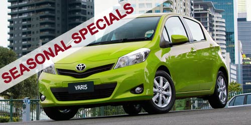 Hire car seasonal specials